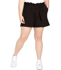 full circle trends trendy plus size paperbag shorts