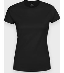 damska koszulka (bez nadruku, gładka) - czarna
