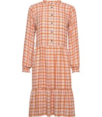 bolette print dress jurk knielengte oranje modström