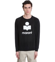 isabel marant kieffer t-shirt in black linen