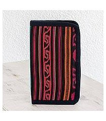 cotton wallet, 'colors of atitlan' (guatemala)