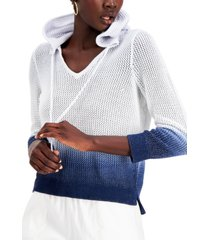 inc perforated hooded sweater, created for macy's
