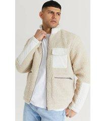 jacka pile zip jacket