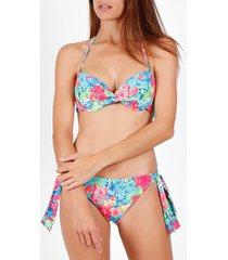 bikini admas bright flowers 2-delig voorgevormd bikinisetje