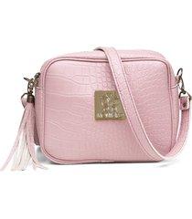 bolsa alice monteiro transversal material croco rosa
