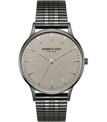 kenneth cole new york men's titanium plated stainless steel watch on titanium plated stainless steel mesh bracelet, 40mm