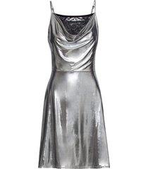 abito lucido con scollo a cascata (argento) - bodyflirt
