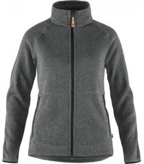 fjällräven vest fjällräven women övik fleece zip sweater dark grey-l