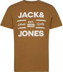 joroliver tee ss crew neck t-shirts short-sleeved brun jack & j s