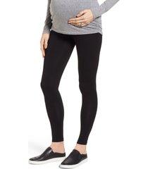 women's isabella oliver kerrison maternity leggings, size 4 - black