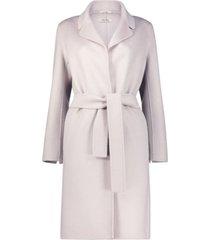 feminine belted overcoat
