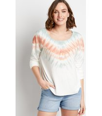 maurices womens white tie dye pullover