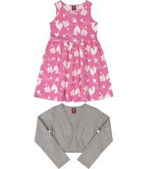 conjunto rosado-blanco-gris bee loop