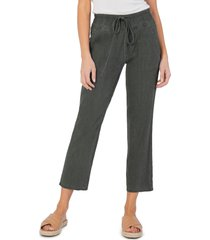 women's kut from the kloth drawcord waist crop pants, size small - green