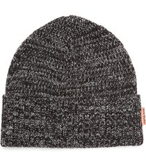 chunky ribbed knit wool beanie