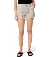 joe's jeans seagrass workwear cut-hem denim shorts