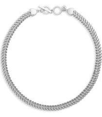 nordstrom foxtail chain toggle necklace in rhodium at nordstrom