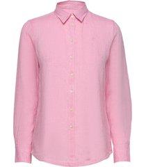 kirsten linen shirt overhemd met lange mouwen roze morris lady