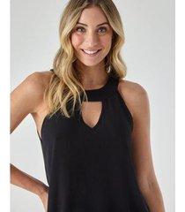 blusa abertura frente - zinzane feminina