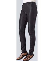 leren legging alba moda zwart