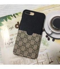 2017 summer card slot black/mono leather style case apple iphone7/8 plus iphonex
