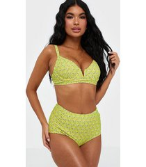 missguided ditsy high waist bikini bottom trosa