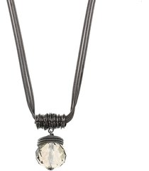 collana con pendente di goccia d'acqua in cristallo