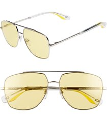 the marc jacobs 58mm navigator sunglasses in pale/yellow at nordstrom