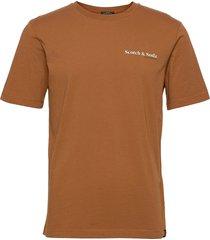 organic cotton jersey tee t-shirts short-sleeved brun scotch & soda