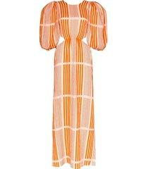whispered sunset maxi dress