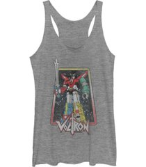 fifth sun voltron retro defender stance square tri-blend racer back tank