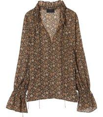 floral royan blouse