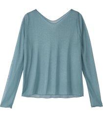 licht transparant shirt uit biologische zijde, oceaan 44
