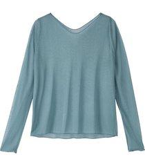 licht transparant shirt uit biologische zijde, oceaan 48