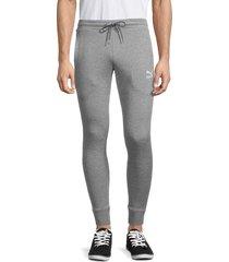 puma men's slim-fit cotton sweatpants - grey - size xxxl