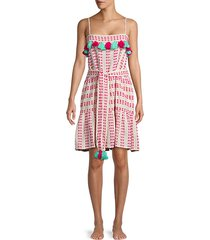 printed cotton belted dress