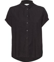 majan ss shirt 9942 blouse korte mouwen zwart samsøe & samsøe