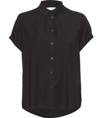 majan ss shirt 9942 overhemd met korte mouwen zwart samsøe samsøe