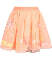 billieblush apricot girl skirt with colorful drawings