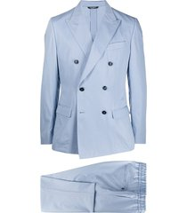 dolce & gabbana double-breasted casual suit - blue