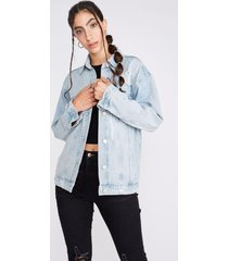 chaqueta denim oversized celeste sioux