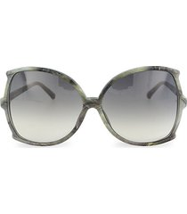 64mm oversized square core sunglasses
