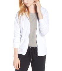 women's alternative adrian zip hoodie, size medium - white