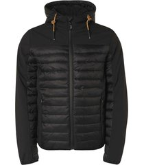 no excess jacket short fit hooded padded black