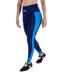 leggings azul oscuro-azul claro - cintura anatómica con control