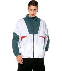 chaqueta blanca-verde-roja reebok myt woven