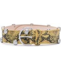 isabel marant étoile leopard-print studded belt - yellow
