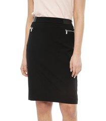 falda calvin klein negro - calce regular