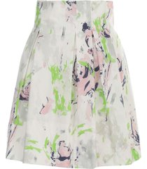 philosophy di lorenzo serafini printed pleated hogh waisted short skirt
