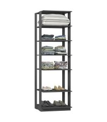 closet estante com 5 prateleiras espresso lilies móveis